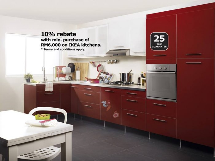 ikea dream kitchen 10 rebate with minimum spending of rm6000 on faktum rationell. Black Bedroom Furniture Sets. Home Design Ideas
