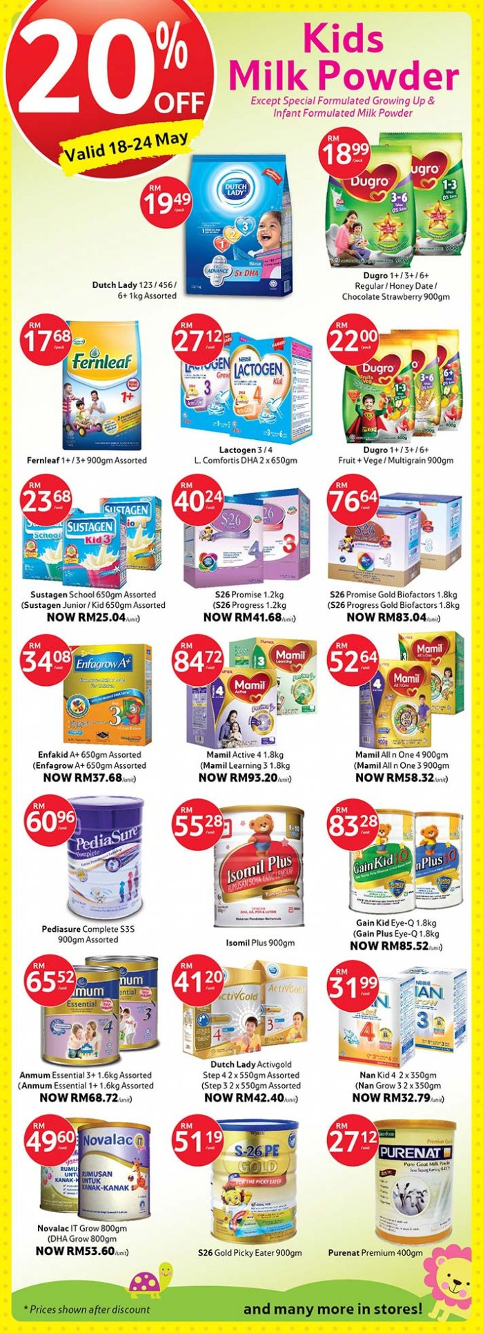 Tesco Kids Milk Powder Promotions - Up to 20% OFF