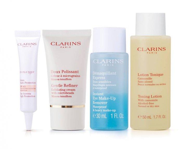 clarins skincare set