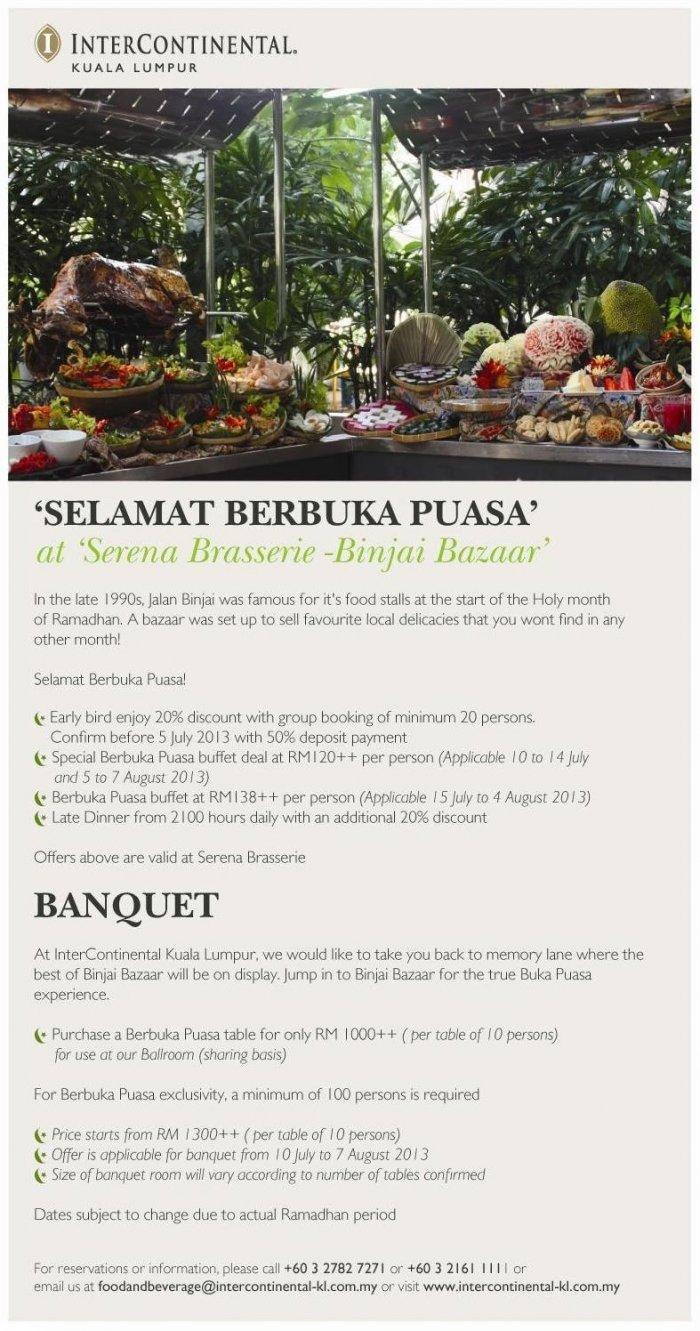 Ramadhan Buffet at InterContinental Hotel Kuala Lumpur
