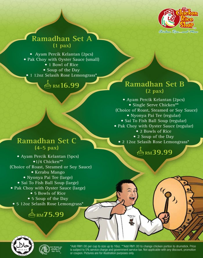 The Chicken Rice Shop Ramadhan Set Meals from only RM16.99