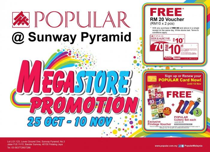 Popular Sunway Pyramid Megastore Promotion