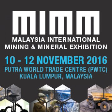 MIMM 2016 - Malaysia International Mining & Mineral Exhibition