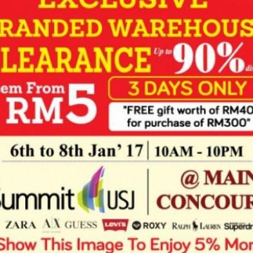 Exclusive Branded Warehouse Sale @ Summit USJ