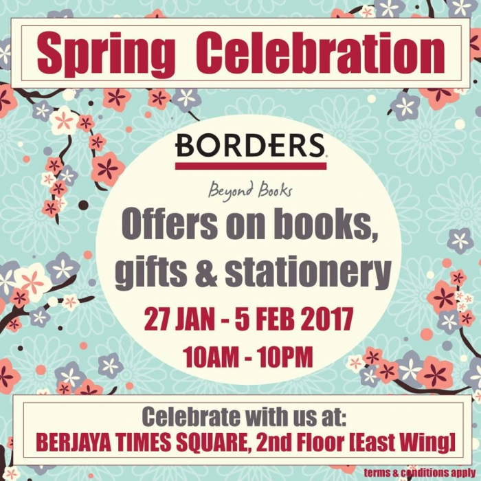 Borders Bookstore Spring Celebration Promotion