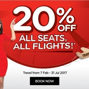 AirAsia 20% Off All Seats All Flights