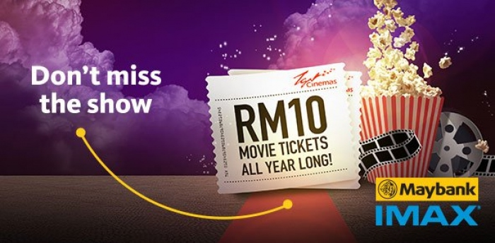 RM10 only for TGV Cinemas Movie Ticket with Maybank Cards