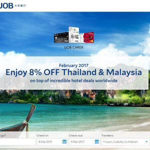 8% OFF Agoda Thailand & Malaysia Hotels Booking with UOB Cards