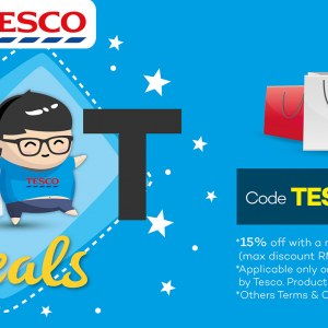 Tesco Feb Fat Deals @ Lazada.com.my - 15% OFF Online Purchase of RM100 or more