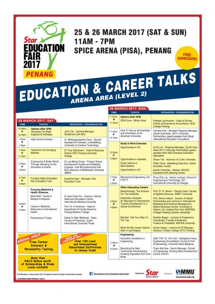 STAR Education Fair 2017 Penang