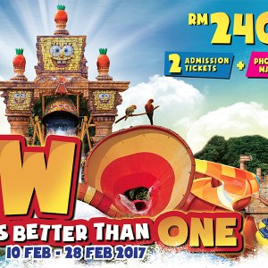 Sunway Lagoon Admission Ticket 2 Persons For only RM240