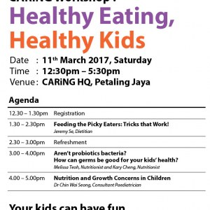 CARiNG Workshop : Healthy Eating, Healthy Kids