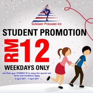 Sunway Pyramid Ice Students Promotiom @ RM12 During Weekdays