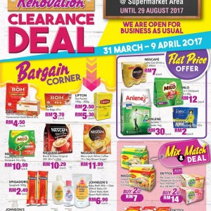 AEON Queensbay Supermarket Renovation Clearance