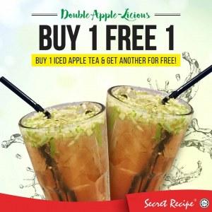 Secret Recipe Double Apple-licious - Buy 1 Free 1 Drink