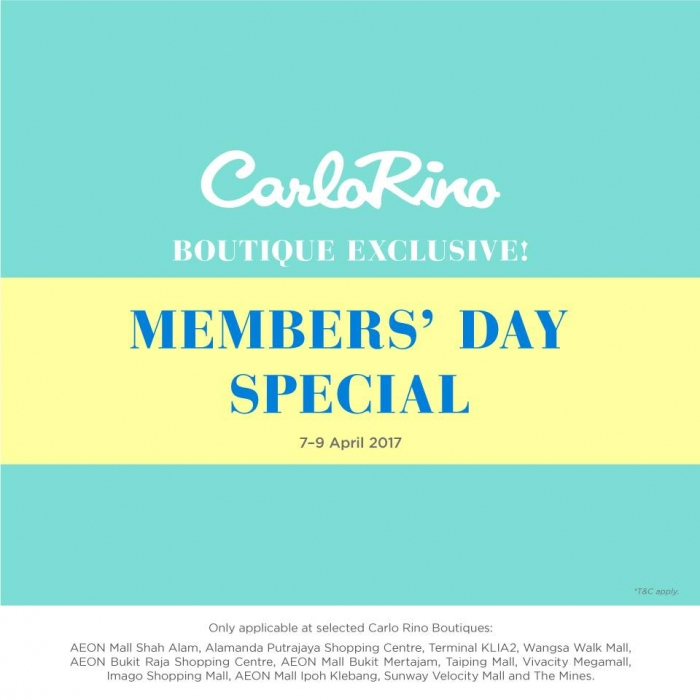 Carlo Rino Boutique Exclusive Member's Day Special