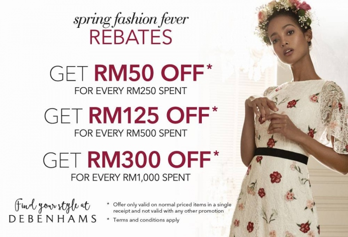 Debenhams Spring Fashion Fever Rebates