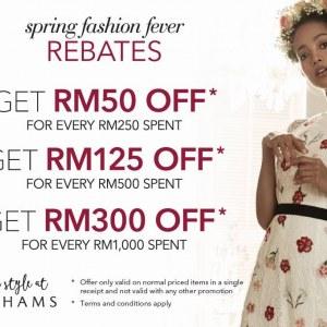 Debenhams Spring Fashion Fever Rebates