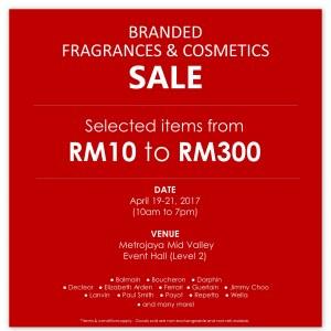 Branded Fragrances & Cosmetics Sale