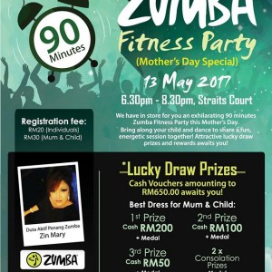 90 Minutes Zumba Fitness Party ( Mothers