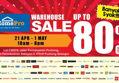 HomePro Warehouse Sale - Up To 80% OFF