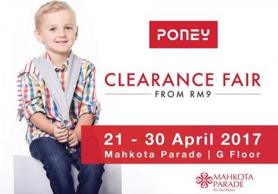 Poney Clearance Fair - Sale From RM9