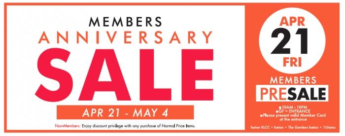 Isetan Members Anniversary Sale - Up To 70% OFF