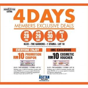 Isetan Members 4-Days Exclusive Deals