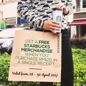 FREE Starbucks Merchandise For Purchase Over RM120