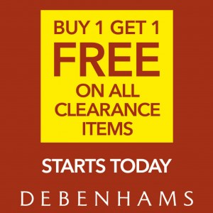 Debenhams Clearance Items Buy 1 Free 1