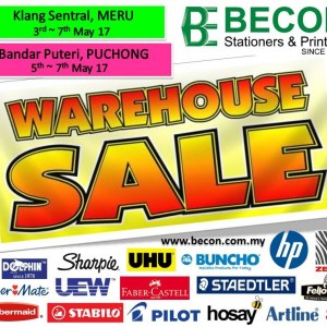 Becon Stationery Warehouse Sale