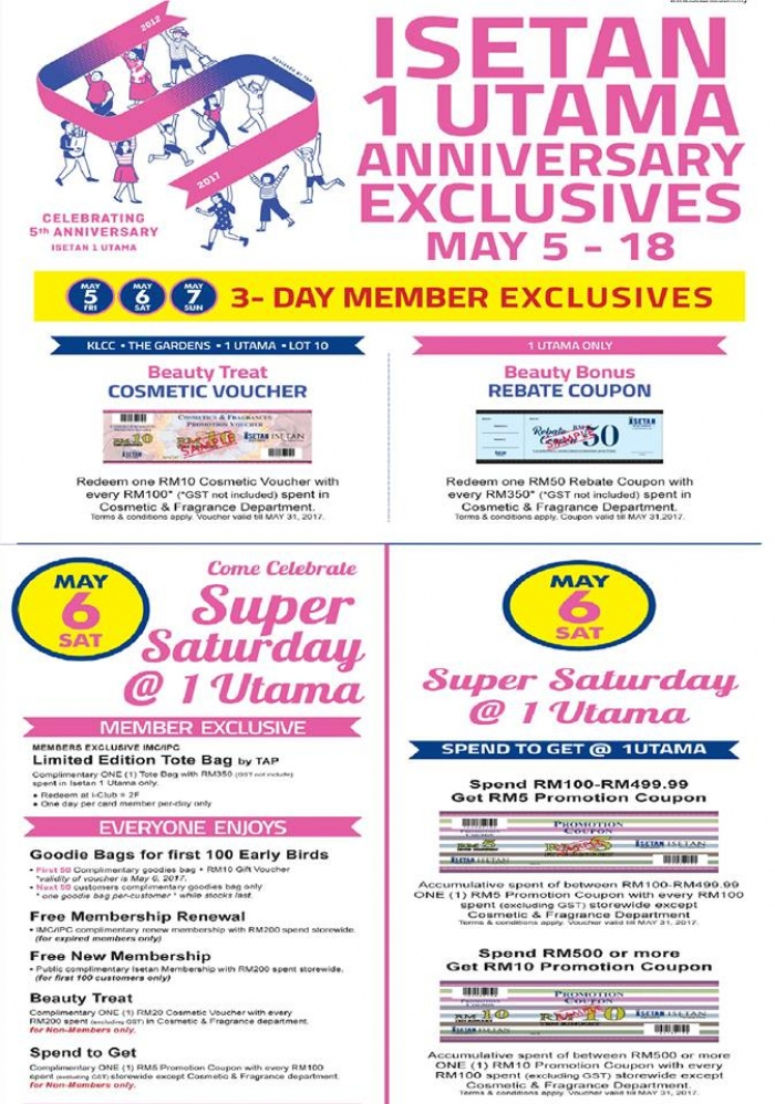 Isetan 1 Utama Anniversary Exclusives