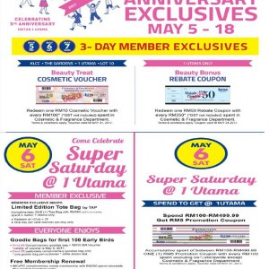 Isetan 1 Utama Anniversary Exclusives