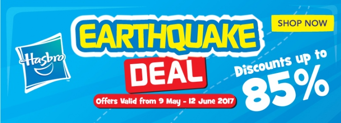 Toys R Us Hasbro Earthquake Deal - Up To 85% OFF
