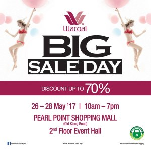 Wacoal Big Sale Day - Discounts Up To 70%