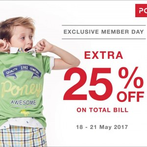 Poney Exclusive Member Day - Extra 25% OFF
