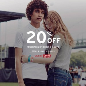 Enjoy 20% OFF For Purchase Above RM399 @ Levi