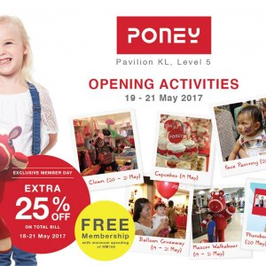 Poney Store Opening Specials @ Pavilion KL