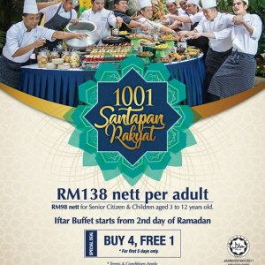 Ramadan Dinner Buffet @ Warisan Cafe, Royale Chulan Kuala Lumpur for RM108