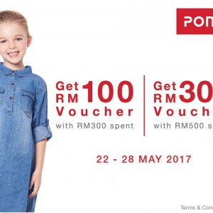 Free RM100 Voucher on Purchase over RM300 in Poney Stores