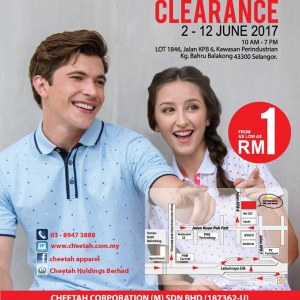 Cheetah Apparel Warehouse Clearance - From RM1