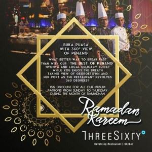Three Sixty Revolving Restaurant & Rooftop Bar Ramadan Buffet from RM88