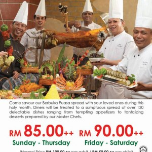 Ramadan Dinner Buffet @ Grand Seasons Hotel from RM90