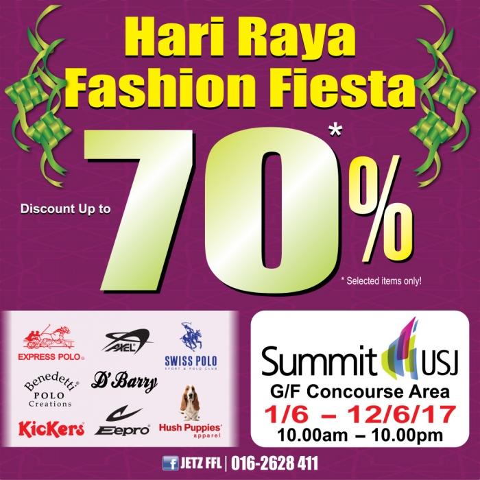 Hari Raya Fashion Fiesta - Branded Apparel Up To 70% OFF
