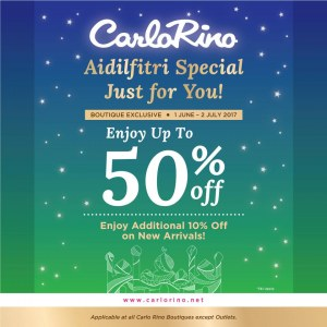 Carlo Rino Hari Raya Special - Up To 50% OFF + 20% OFF