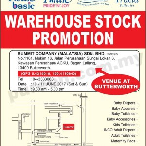 Pureen Warehouse Stock Promotion - Butterworth (June 2017)