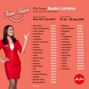 AirAsia 3 Million Free Seats Promotion