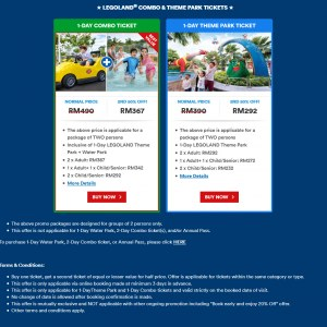 Legoland Malaysia Buy One Get 2nd Ticket @ 50% OFF