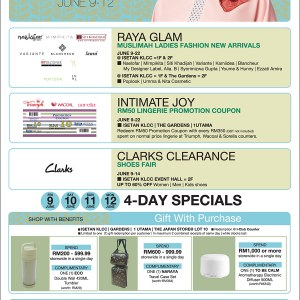 Isetan Raya Ready Specials - Muslimah New Arrivals, Intimate Joy & Clarks Clearance