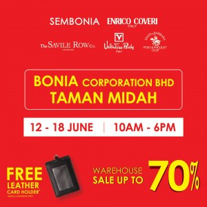 Bonia Warehouse Sale - Up To 70% OFF + Free Leather Gift